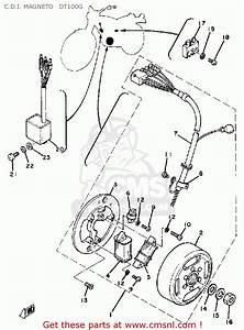 Yamaha Dt100 1979 Usa C D I  Magneto Dt100g