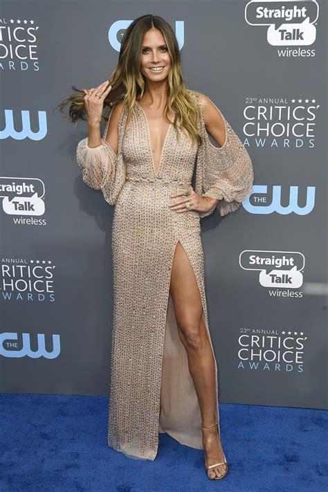 Heidi Klum Georges Hobeika Critics Choice Awards