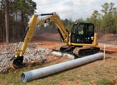 caterpillar mini excavators  spec guide compact equipment