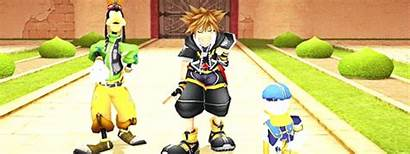Sora Goofy Kingdom Hearts Donald Salute Disney
