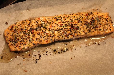 perfect salmon fillet  rustic cutting board  fresh