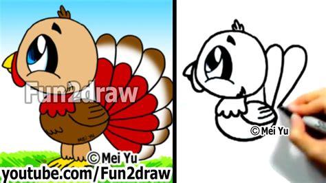 draw  cartoon turkey youtube