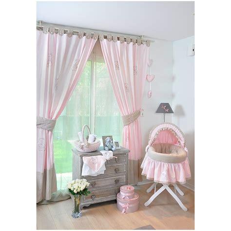 davaus net rideau chambre bebe fille rose et gris avec