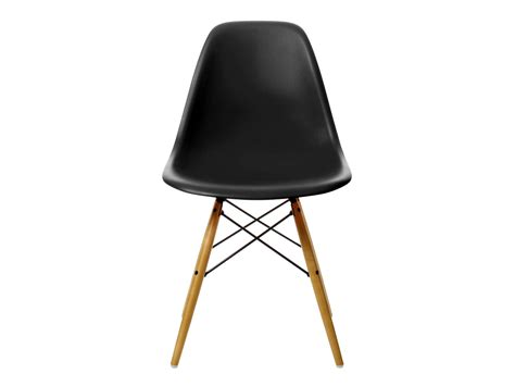 buy the vitra dsw eames plastic side chair golden maple