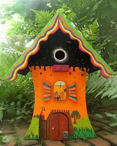 Acrylfarben Auf Holz : ich hab da mal so ein vogelh uschen bemalt malerei holz vogelh uschen acrylmalerei von ~ Orissabook.com Haus und Dekorationen