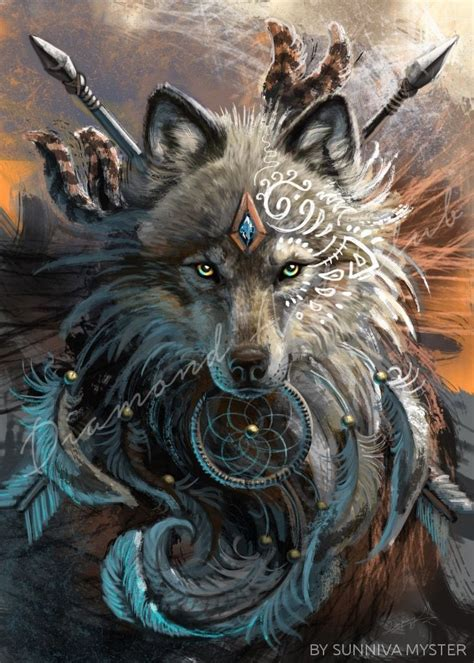 wolf dreamcatcher usa diamond painting kits diamond
