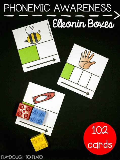 elkonin boxes playdough  plato