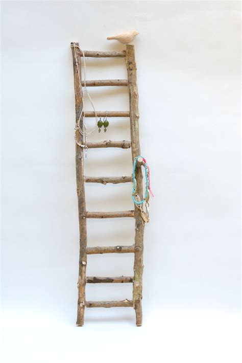 style  home stick ladder jewelry holder