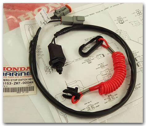 Honda Boat Outboard Emergency Stop Switch Assy