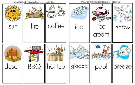 learning  hot cold  images preschool