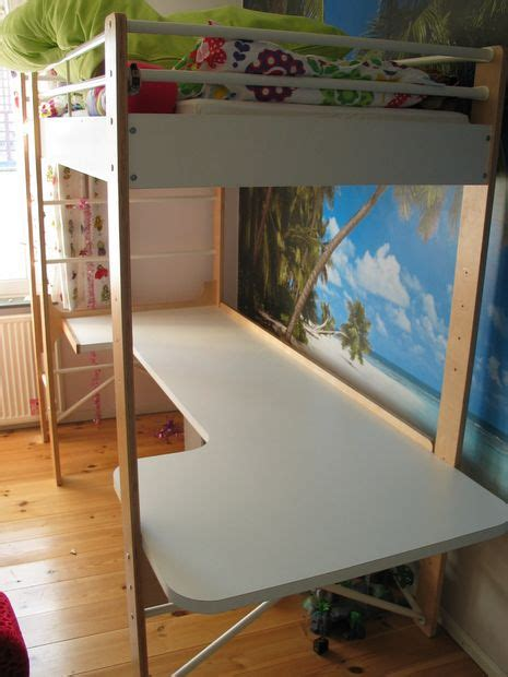 wood loft bed with desk ikea desk for ikea lo loft bed