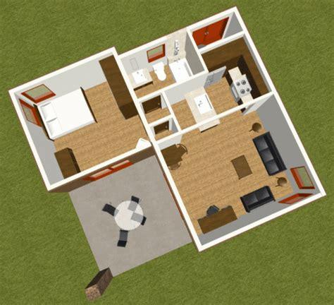 studio modern guest house plan    house plan site