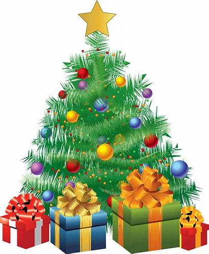 Christmas Clip Tree Clipart Holiday Trees Presents