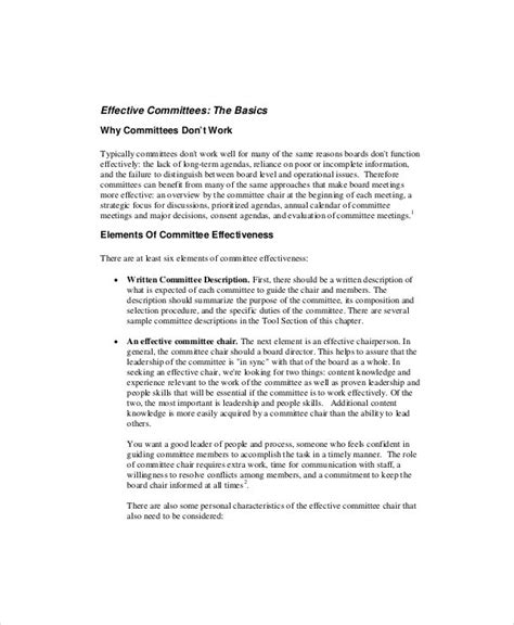 committee meeting agenda templates  sample