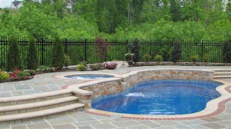 pool  hot tub waterfall