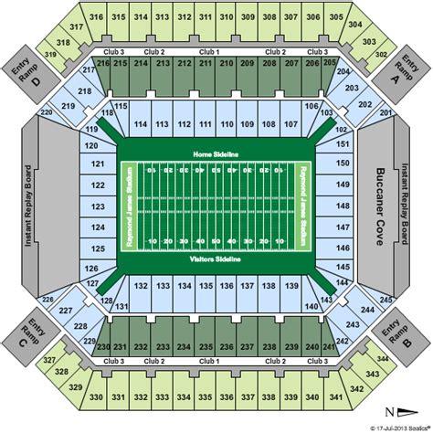 Diagram Raymond James Stadium