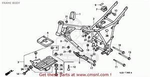 Honda Tl125 1988 France Frame Body
