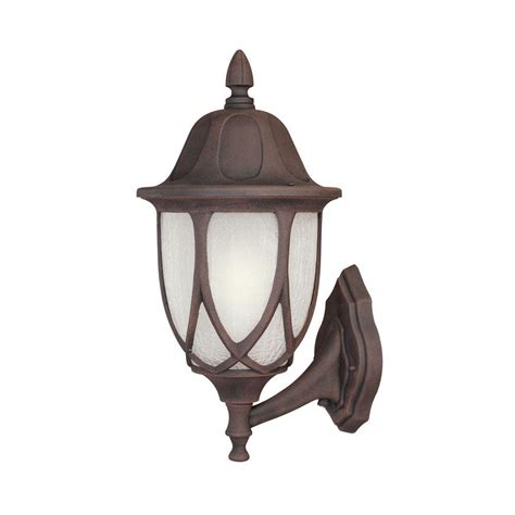 hton bay waterton 1 light ridge bronze outdoor