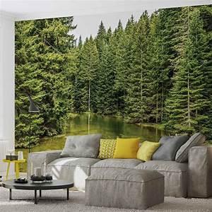 Poster Mural Nature : river forest nature wall paper mural buy at europosters ~ Teatrodelosmanantiales.com Idées de Décoration