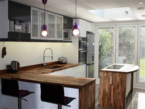 Primitive Kitchen Countertop Ideas by Creating A Kitchen Breakfast Bar Using Solid Wood