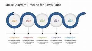 5 Step Snake Diagram Timeline Template