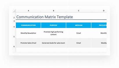 Matrix Communication Template Project Approval Marketing Example
