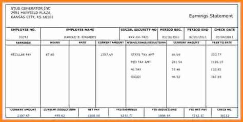 payroll check template 5 payroll checks templates free simple salary slip