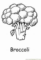 Coloring Vegetables Vegetable Pages Broccoli Printable Clipart Printabel Fruit Sheets Fruits Nature Coloringpages101 Easy Freekidscoloringpage Colouring Adults Brocolli Children Sheet sketch template