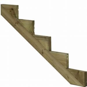 Bois Autoclave Classe 4 : limon 5 marches pour escalier de jardin en bois autoclave ~ Premium-room.com Idées de Décoration