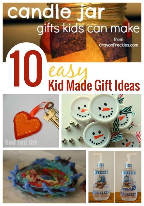 10 easy gifts kids can make handmade kids art