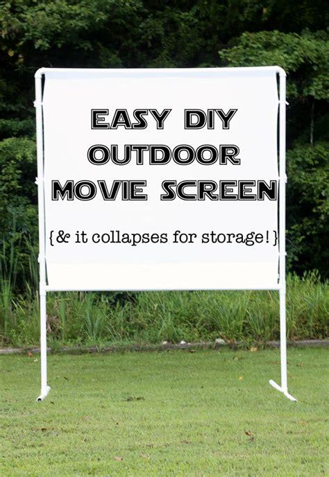 easy diy outdoor  screen