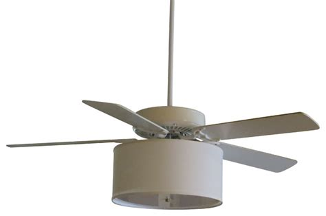 linen drum shade light kit for ceiling fans contemporary