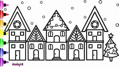 Drawing Coloring Draw Pages Colouring Christmas Children