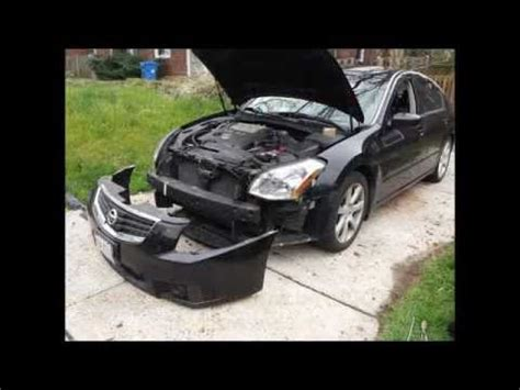 2007 nissan maxima headlight bulb replacement how to