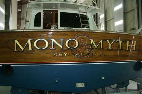 Boat Lettering In Key Largo by Mono Myth Key Largo Florida Boat Transom Boats Transom