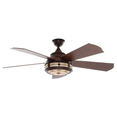 hton bay tiffany style ceiling fans hunter pro 39 s best five minute 52 in new bronze ceiling