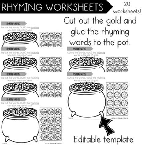rhyming worksheets set of 2 by delightfully peachy
