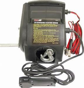 Shop Grip 12 Volt Reversible Electric Winch