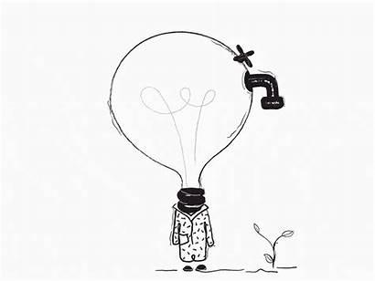 Absurd Illustrations Lightbulb Surrealist Absurdity Landing Dribbble