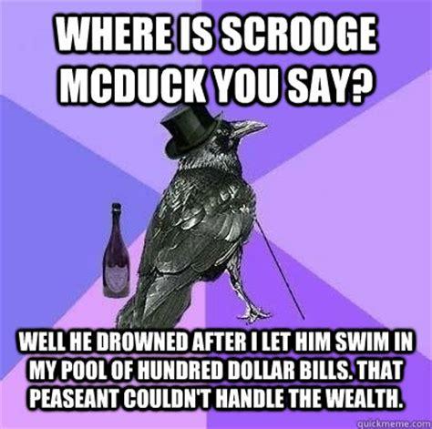Scrooge Mcduck Meme - scrooge mcduck swimming in money memes