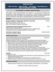 accounting position resume sample With accounting resume writers