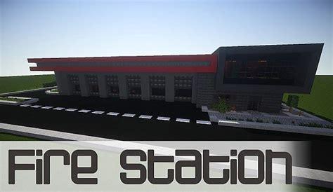 modern fire station minecraft project