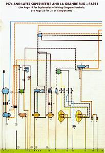 1978 Vw Bug Fuel Injected Easy To Read Wire Diagram