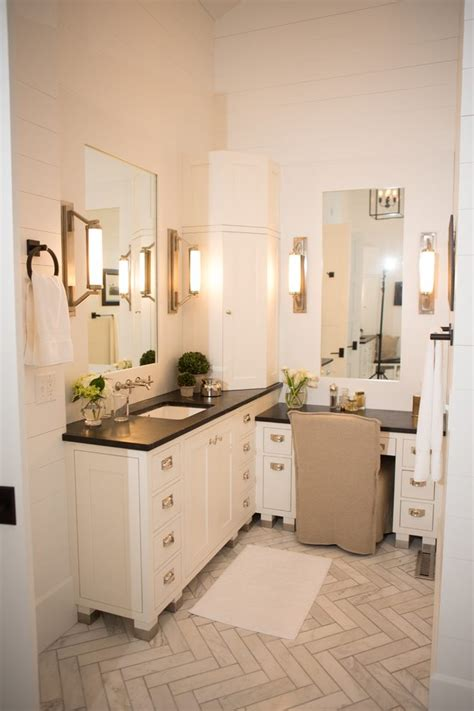 Blooming Single Bathroom Vanity with Makeup Area