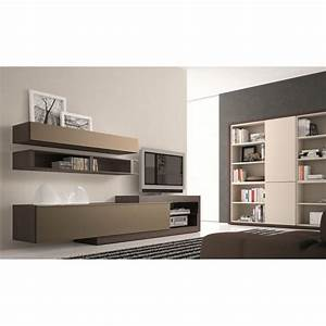 Meuble Tv Beige : meuble tv taupe neva couleur marron mati re pan achat vente meuble tv meuble tv taupe neva ~ Teatrodelosmanantiales.com Idées de Décoration