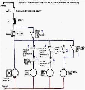 Star Delta Starter Control Wiring Diagram