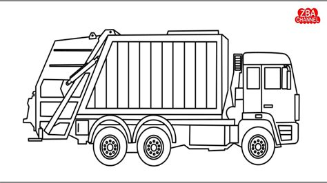gambar mewarnai truk ali 09 cara menggambar dan