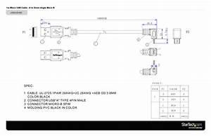 Cable Usb A Micro Usb En  U00e1ngulo Inferior  1 Metro