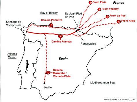 Camino Santiago De Compostela Map