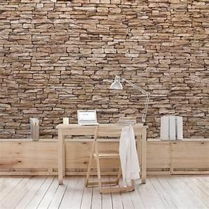 Mauer Wand Wohnzimmer : die besten 25 steinwand tapete ideen auf pinterest ~ Lizthompson.info Haus und Dekorationen